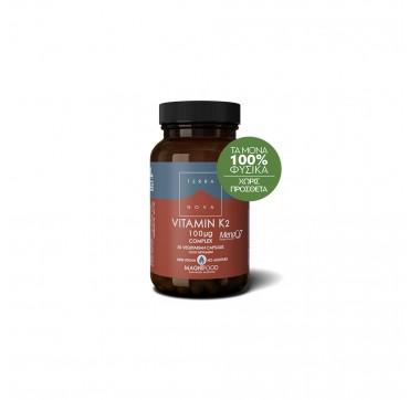 Terranova Vitamin K2 100μg Complex 50veg Caps