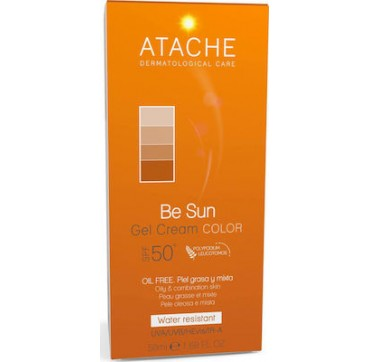 Atache Be Sun Gel Cream Color SPF50+ Oil Free 50ml