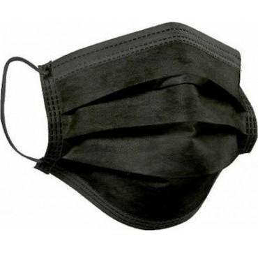 Μάσκα Προστασίας Μιας Χρήσης Μαύρη 50τμχ