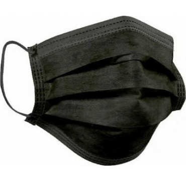 Μάσκα Προστασίας Μιας Χρήσης Μαύρη 1000τμχ