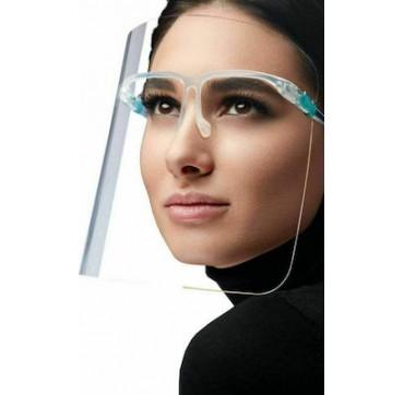 Μάσκα Ασπίδα Προστασίας Προσώπου Με Πλαστικό Σκελετό Γυαλιών Face Glasses Shield 1τμχ