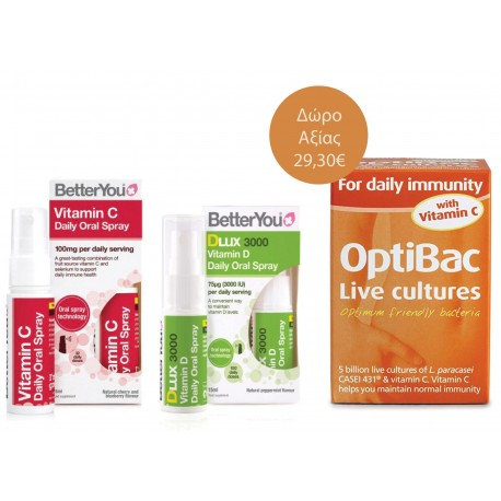Better You Immune Pack & Δώρο Optibac For Daily Immunity With Vit C 30 Caps