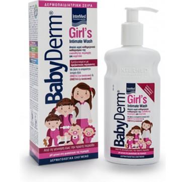 Intermed Babyderm Girl's Intimate Wash Υγρό Καθαρισμού Ευαίσθητης Περιοχής Κοριτσιών 0-12 Ετών 300ml