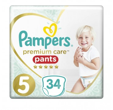Pampers Premium Care Pants No5 (12-17kg) 34 τεμ.