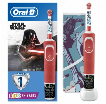 Oral-b Vitality Kids Disney Star Wars Special Edition Ηλεκτρική Οδοντόβουρτσα 3+ & Δώρο Θήκη Ταξιδιού 1tmx