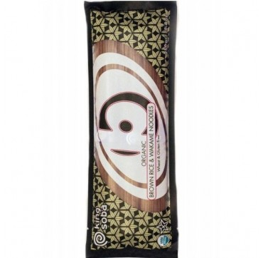 King Soba Βιολογικά Noodles Από Καστανό Ρύζι & Φύκια Wakame 250g