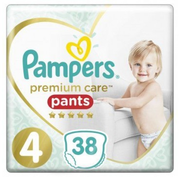 Pampers Premium Care Pants No4 (9-15kg) 38 τεμ.