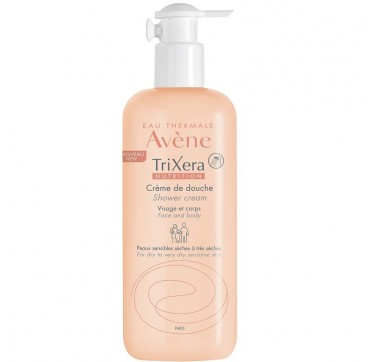 Avene Trixera Nutrition Creme de Douche (Shower Cream) - Καθαρισμός (500ml) / Για πρόσωπο και σώμα, για ξηρό και πολύ ξηρό δέρμα