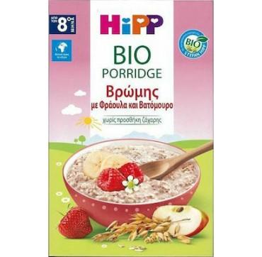 Hipp Βρεφική Κρέμα Βρώμης με Φράουλα και Βατόμουρο 8m+ 250gr