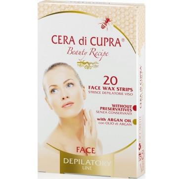 Cera di Cupra Wax Face Strips Ταινίες Αποτρίχωσης Προσώπου 20 τμχ
