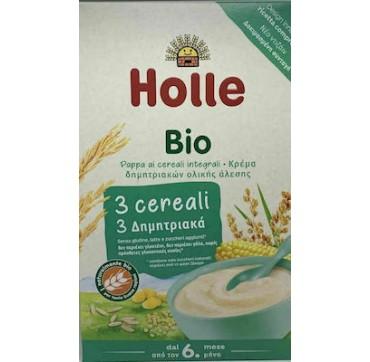 Holle Βρεφική Κρέμα Κεχρί, Καλαμπόκι & Ρύζι 4m+ 250gr