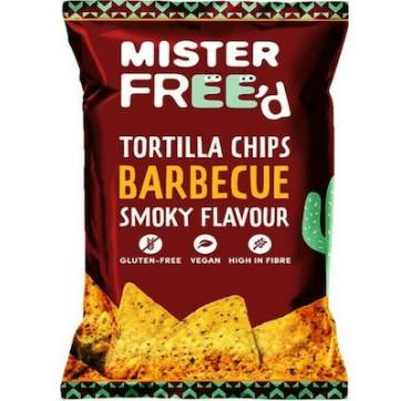 Mister Free'd Τσίπς τορτίγιας από καλαμπόκι με γεύση BBQ Χ/ΓΛ - vegan 135g