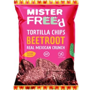 Mister Free'd Tortilla Chips Πατζάρι 135g