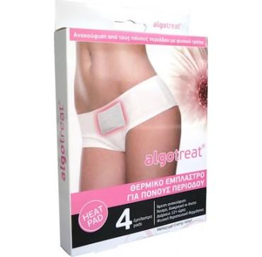 Algotech Algotreat Θεραπευτικό Θερμικό Έμπλαστρο Για Πόνους Περιόδου 4τμχ