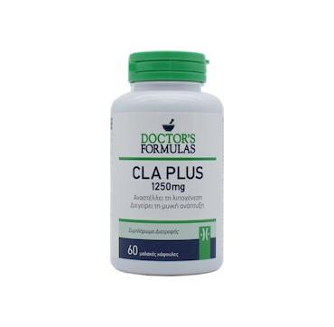 Doctor's Formulas CLA Plus 1250mg Συμπλήρωμα που αναστέλλει τη Λιπογένεση & διεγείρει τη Μυϊκή Μάζα 60 tabs