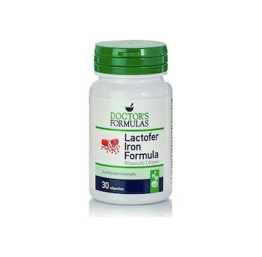 Doctor's Formulas Lactofer Iron Formula Συμπλήρωμα Διατροφής με Σίδηρο, Λακτοφερίνη, Χαλκό & Βιταμίνες 30 tabs