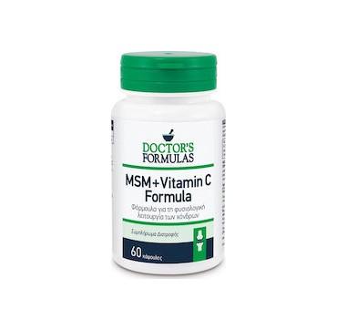 Doctor's Formula MSM + Vitamin C Συμπλήρωμα Διατροφής για την Υγεία των Αρθρώσεων 60 caps