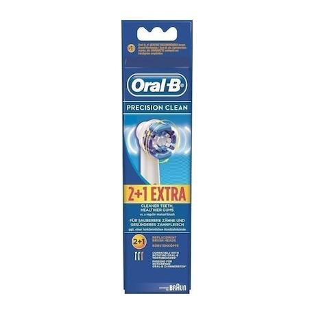 ORAL-B PRECISION CLEAN ΑΝΤΑΛΑΚΤΙΚΑ ΒΟΥΡΤΣΑΚΙΑ 2+1 EXTRA (3τεμ.)