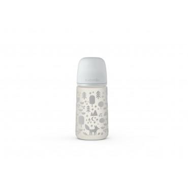 Suavinex Μπιμπερό Πλαστικό Σιλικόνης Fox Grey PP 3-6m 270ml