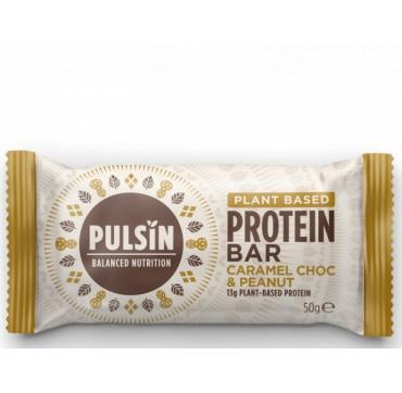Pulsin Plant Based Protein Bar Caramel Choc & Peanut 50g