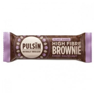 Pulsin Plant based High Fibre Brownie Choc hazelnut 35g