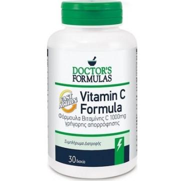 Doctor's Formulas Vitamin C Fast Action 1000mg 30 κάψουλες