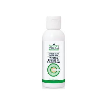 Doctor's Formulas Vitamin D3 2500IU & K2 200mcg Λιποσωμιακή Φόρμουλα με Βιταμίνες D3 & Κ2 120ml