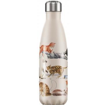 Chilly' s Bottle E. B. Cats Reusable Bottle Ανοξείδωτο Θερμός 500ml