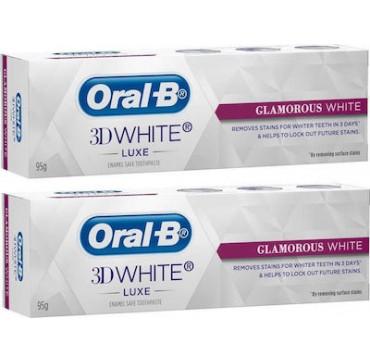 Oral-B 3D White Luxe Glamorous White Toothpaste 2 x 75ml