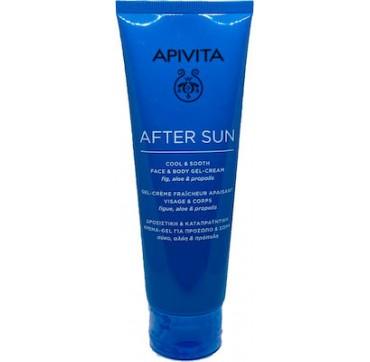 Apivita After Sun Δροσιστική Κρέμα Gel Για Πρόσωπο - Σώμα Με Σύκο, Αλόη και Πρόπολη 200ml
