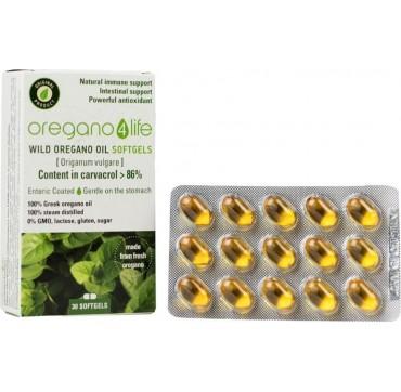Oregano4Life Wild Oregano Oil 10% Αιθέριο Έλαιο Ρίγανης 30softgels