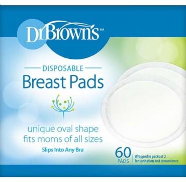 Drbrown' s Επιθέματα Στήθους Μιας Χρήσης 60 Τμχ