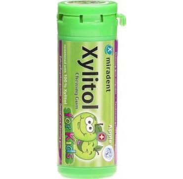 Miradent Xylitol Παιδικές Πράσινο Μήλο 30τμχ