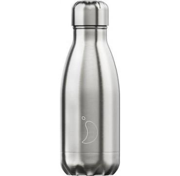 Chilly' s Silver Edition Reusable Bottle Ανοξείδωτο Θέρμος 260ml