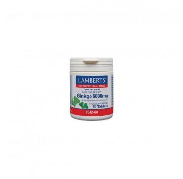 Lamberts Ginkgo 6000mg Συμπλήρωμα Διατροφής 60 ταμπλέτες