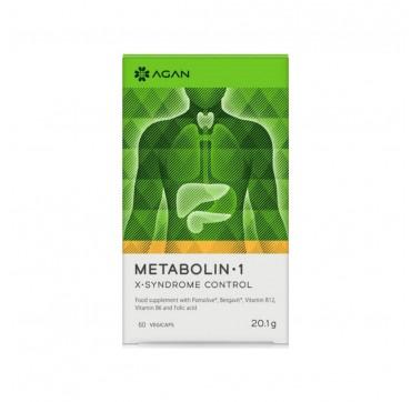 Agan Metabolin 1 X-Syndrome Control Συμπλήρωμα Διατροφής 60 φυτικές κάψουλες