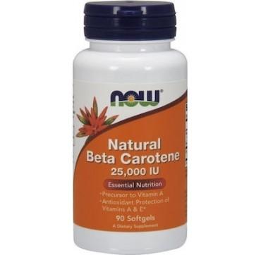 Now Foods Beta Carotene (Natural) 90 μαλακές κάψουλες