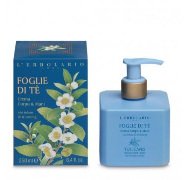 L 'Erbolario Foglie Di Te Crema Corpo & Mani Body & Hand Cream Γαλακτωμα 250ml
