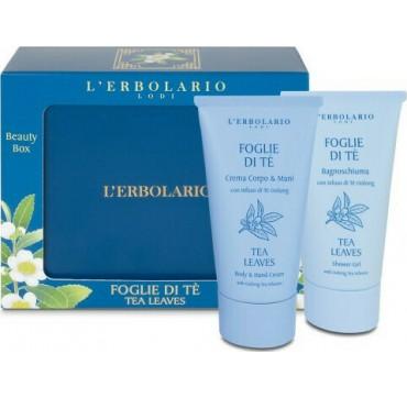 L' Erbolario Foglie Di Te Beauty Box Shower Gel 250ml & Body Cream 75ml