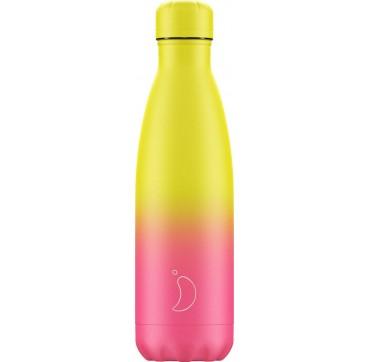 Chilly's Bottle Gradient Edition Neon Reusable Bottle Ανοξείδωτο Θέρμος 500ml