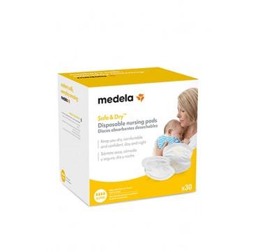 Medela Safe & Dry Disposable Nursing Pads More Absorbent 30τμχ