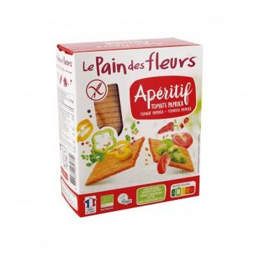 Le Pain des Fleurs Βιολογικά Τραγανά Καλαμποκιού με Ντομάτα και Πάπρικα 150g