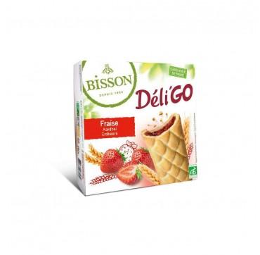 Bisson Deligo Μπισκότα με Γέμιση Φράουλας 150g