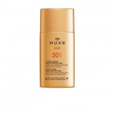 Nuxe Sun Light Fluid Αντηλιακό Προσώπου Ελαφριάς Υφής SPF50 50ml