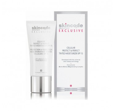 Skincode Exclusive Cellular Protect & Perfect Tinted Moisturizer SPF15 30ml