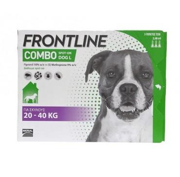 Frontline Combo Spot-on Dog L για σκύλους 20-40Kg - 3 πιπέτες των 2,68ml