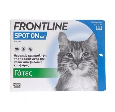 Frontline Spot-On Cat για Πρόληψη & Θεραπεία των Παρασιτώσεων 3τμχ