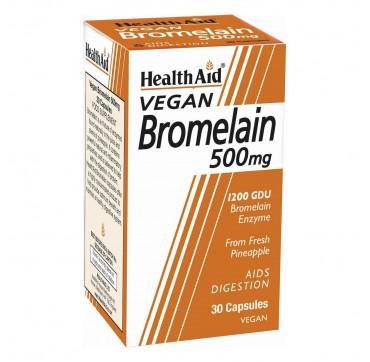 Health Aid Bromelain 500mg 30 φυτικές κάψουλες