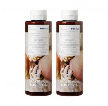 Korres Renewing Body Cleanser Peach Blossom 2x250ml
