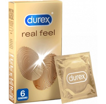 Durex Real Feel Προφυλακτικά 6τεμαχια